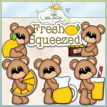 Lemonade Bears Clip Art - Bears With Lemons Clip Art - CU