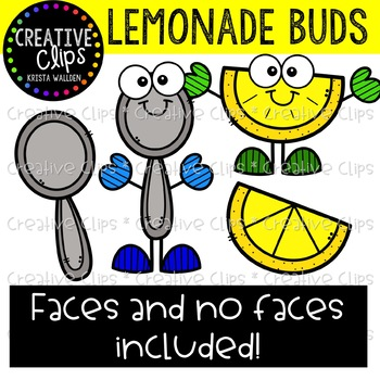 Lemonade Buds: Summer Clipart {Creative Clips Clipart}
