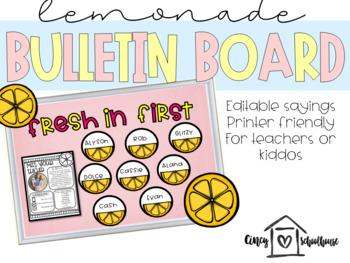 Lemonade Bulletin Board for Teachers and Students