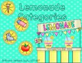 Lemonade Categories