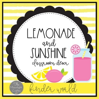 Lemonade Classroom Decor: A Growth Mindset Classroom Theme