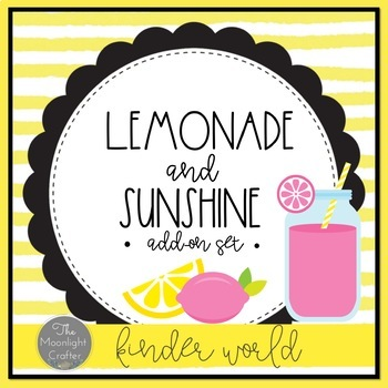 Lemonade Classroom Decor Add-On Set EDITABLE