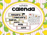 Lemonade Classroom Decor: Calendar Set