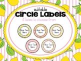 Lemonade Classroom Decor: Circle Labels