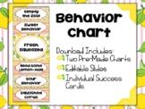 Lemonade Classroom Decor: Editable Behavior Charts