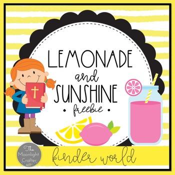 Lemonade Classroom Decor Religious Schedule Freebie