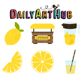 Lemonade Clip Art - Great for Art Class Projects!