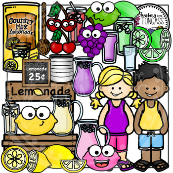 Lemonade Clipart Bundle