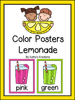 Lemonade Color Posters