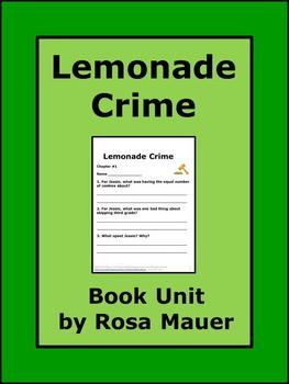 Lemonade Crime Book Unit