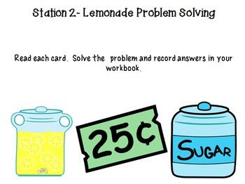 Lemonade Day Math Stations