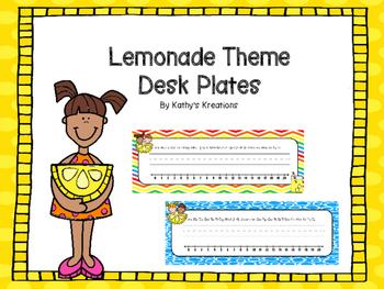 Lemonade Desk Plates