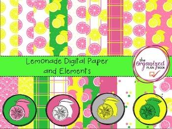 Lemonade Digital Paper