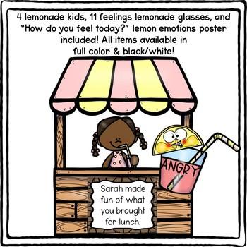 Lemonade FEELINGS & EMOTIONS Scenarios Matching Game!