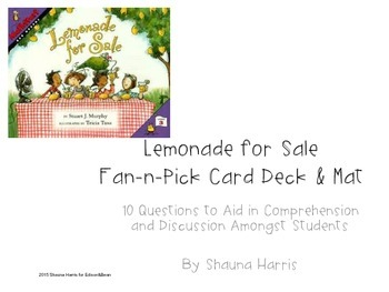 Lemonade For Sale Fan & Pick Cards (Trophies 2nd grade)