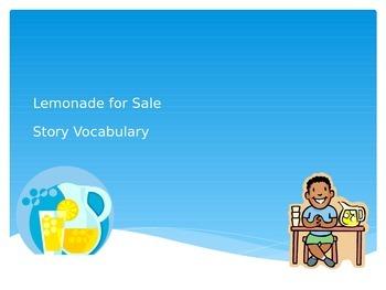 Lemonade For Sale Vocabulary PowerPoint