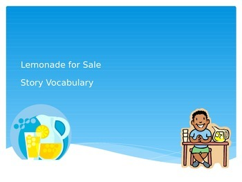 Lemonade For Sale Vocabulary PowerPoint