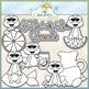 Lemonade Frogs - CU Clip Art & B&W Set