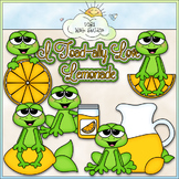 Lemonade Frogs - CU Clip Art & B&W Set