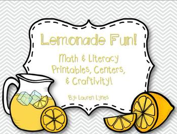 Lemonade Fun! {Centers, Printables & Craftivity!}