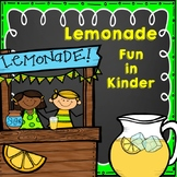 Lemonade Fun in Kinder (Math, Reading, and Writing)