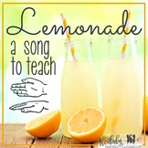 Lemonade: High/low and so/mi slides and manipulatives for the Kodaly classroom
