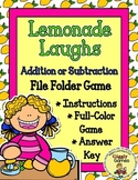 Lemonade Laughs Addition or Subtraction File Folder Game