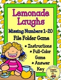 Lemonade Laughs Missing Numbers File Folder Game