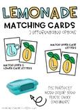 Lemonade Letter Matching Cards