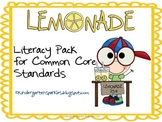 Lemonade Literacy Pack for Common Core Standards
