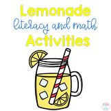 Lemonade Literacy and Math Activities