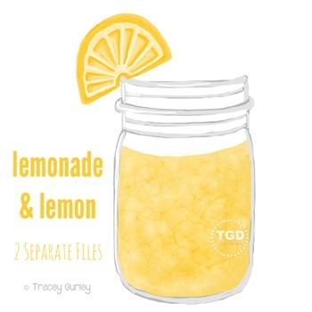 Lemonade Mason Jar - Mason jar with lemon Printable Tracey Gurley Designs