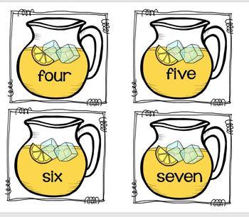 Lemonade Number Match Up