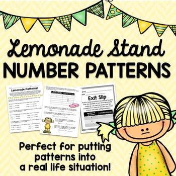 Number Patterns-- Lemonade Stand