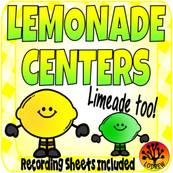 Lemonade Centers Activities Literacy Math Fine Motor Subitizing Spring Summer