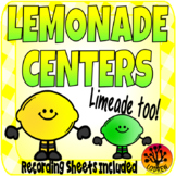 Lemonade Centers Recording Sheets Lemonade Activities Literacy Math Worksheets