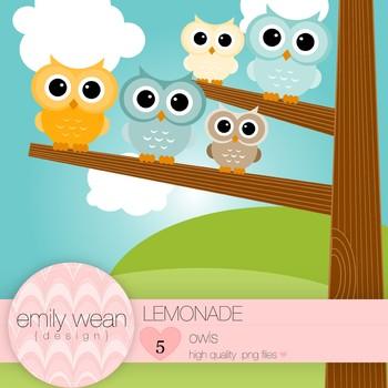 Lemonade - Owl Clip Art