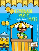 Lemonade Party Sight Word Mats: 2nd Grade Edition
