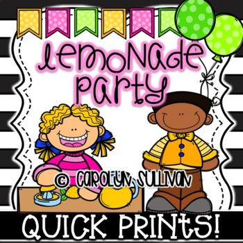 Lemonade Party for Spring and Summer - Quick Prints for Kindergarten