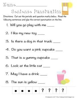 Lemonade Punctuation Freebie