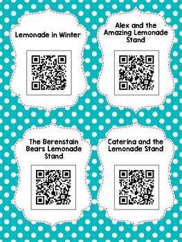 Lemonade QR Codes: 12 Stories for Daily Five Listen to Reading
