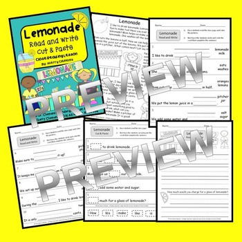 Lemonade Read and Write - Close Reading (Cut and Paste)