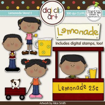 Lemonade Stand 2-  Digi Clip Art/Digital Stamps - CU Clip Art
