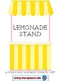 Lemonade Stand: A Speech/Language Thematic Unit