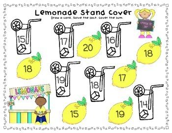 Lemonade Stand Addition- Freebie 1.OA.6 2.OA.2