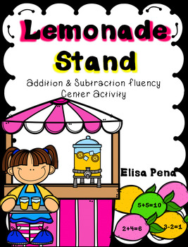 Lemonade Stand Addition and Subtraction Fluency Center