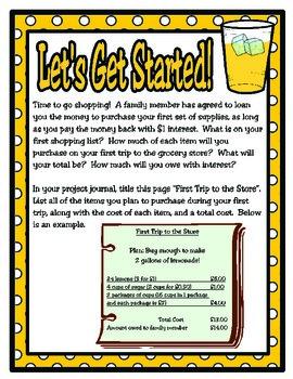 Lemonade Stand Class Project: 4th Grade Math Project