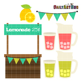 Lemonade Stand Clip Art - Great for Art Class Projects!