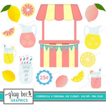 Lemonade Stand Clip Art Pack
