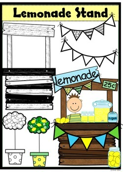 Lemonade Stand Clip Art with 33 images...for commercial and personal use!